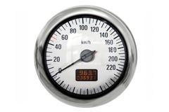 Chrome speedometer stock photo