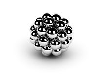 Chrome spheres Royalty Free Stock Images
