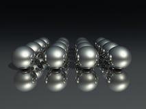Chrome spheres Stock Photo
