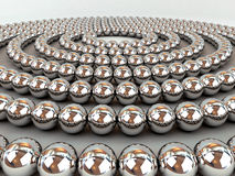 Chrome spheres Royalty Free Stock Photo