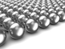 Chrome spheres. Abstract 3d illustration of chrome spheres background vector illustration