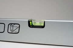 Chrome spirit level Stock Photo