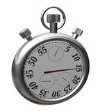 Chrome sport Stopwatch. On white with patch Royalty Free Stock Images