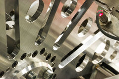 Chrome sprocket Stock Photo