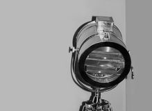 Chrome stage light taken closeup. Stock Photography