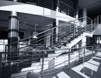 Chrome stairs Royalty Free Stock Image