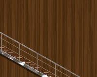 Chrome stairway Royalty Free Stock Photo