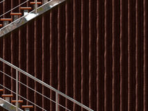 Chrome stairway Royalty Free Stock Photography