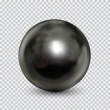 Chrome steel ball realistic isolated on white background. Chrome metal ball realistic isolated on white background. Spherical 3D orb with transparent glares and vector illustration