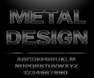 Free Chrome Steel Grid Font Design For Typography Stock Photos - 132010713