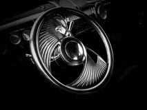 Chrome Steering Wheel Stock Image