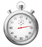 Chrome stop watch. Vector illustration of isolated chrome stop watch Royalty Free Stock Photos