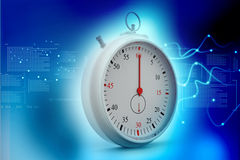 Chrome stopwatch Stock Photo