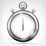 Chrome stopwatch isolated object on white Royalty Free Stock Photo