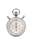 Chrome stopwatch at start position Royalty Free Stock Photos