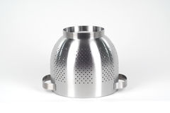Chrome strainer. Isolated on white Royalty Free Stock Photos