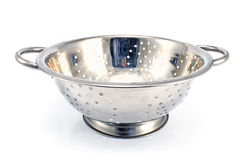 Chrome strainer Royalty Free Stock Images