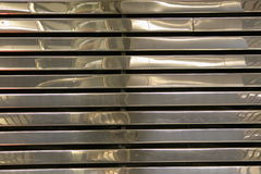 Chrome Strips. Strips of crhrome formed to create a wall stock photo