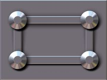 Chrome studs. Chome studs on metal plate stock illustration