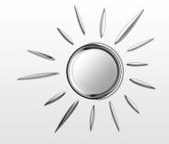 Chrome Sun ist glänzend Lizenzfreie Stockfotos