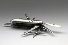 Chrome swiss pocket knife Royalty Free Stock Images