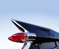 Chrome tail fin of American classic car Stock Photography