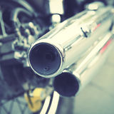 Chrome tailpipes Royalty Free Stock Images