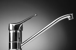 Chrome tap on the background Royalty Free Stock Image