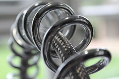 Chrome tap and hose Stock Image