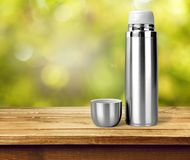 Chrome thermos Royalty Free Stock Photography
