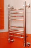 Chrome towel rail Royalty Free Stock Photography