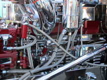 Chrome truck engine stock images