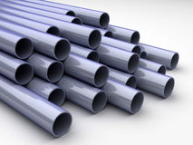 Chrome tubes Royalty Free Stock Photo
