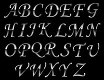 Chrome typeface Gray. Royalty Free Stock Images
