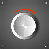Chrome volume knob Stock Image