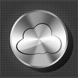 Chrome volume knob with cloud icon Royalty Free Stock Photography