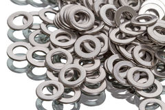 Chrome  washers Stock Photo