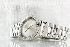 Chrome watch Stock Photo