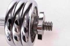 Chrome Weights Stock Photo