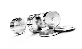 Chrome weights. On a white background vector illustration