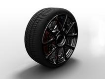 Chrome wheel vector illustration