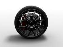 Chrome wheel Stock Photo