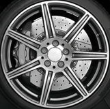 Chrome wheel rim Stock Photo