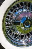 Chrome wheel. Spokes of a car Stock Photography