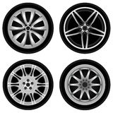 Chrome wheel vector Stock Photo