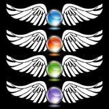 Chrome Wing Set Royalty Free Stock Image