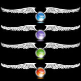 Chrome Wing Set Royalty Free Stock Images