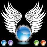 Chrome Wing Set Stock Image