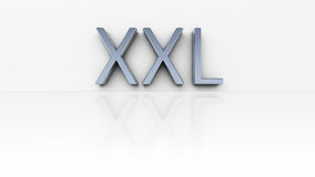 Chrome word XXL Royalty Free Stock Photo