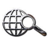 Chrome World Wide Web search symbol Stock Photography